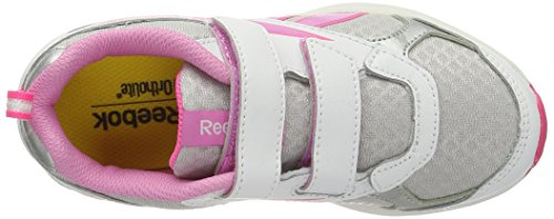 Reebok Mädchen Almotio Rs 2v Laufschuhe Weiß / Silberfarben / Rosa (White/Silver/Icono Pink/Solar Pink)
