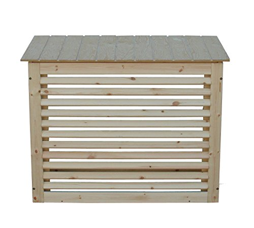 Schutzgehäuse aus Holz für Klimageräte oder Wärmepumpe Gr. 1