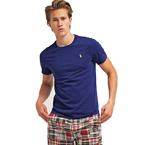 Ralph Lauren Herren T-Shirt Custom Fit (XXL, Fall Royal)