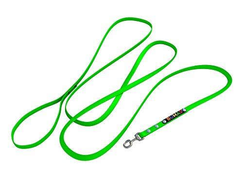 BUMAS - easy going - Führleine aus BioThane® in neon grün 1,5 m