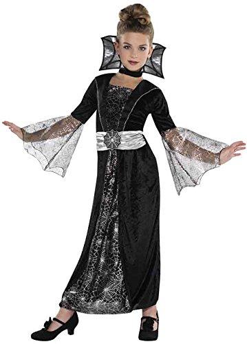 Kinderkostüm Hexe Mädchen Kostüm Gräfin 4-5 Jahre 104/110