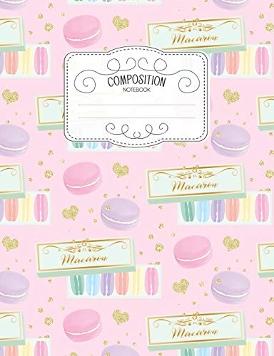 Composition Notebook: Kawaii College Ruled Narrow Line Comp Books for School - Macaron In A Gift Box (Pastel Cute Journals for Students, Band 45) - Supply Line