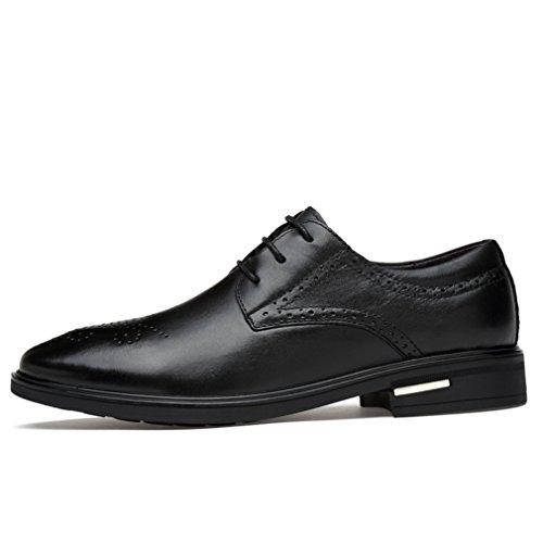 Hommes Chaussures Brogue Sculpture Creux Poreuse Business Loisirs Chaussures à Lacet Bout Pointu Mode Noir