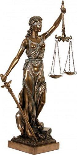 colourliving Dekofigur Justitia Göttin der Gerechtigkeit Skulptur bronziert