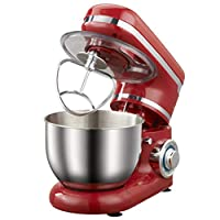 Kitchen Mini Stand Mixer, 1200W Die Cast Stand Mixers, Speeds Cake Mixer Dough Maker, with Bowl, Dough Hook, Beater, Whisk
