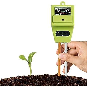 Jeffergarden 2in1 Bodentester Feuchtemessger/ät Feuchtigkeitsmesser PH Sensor mit Sonde f/ür Gartenpflanzen