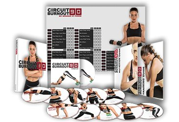 Circuit Burnout 90: 90 Tage DVD Workout Programm mit 10 + 1 Übung Videos + Training Kalender, Fitness Tracker & Training Guide und Ernährung Plan