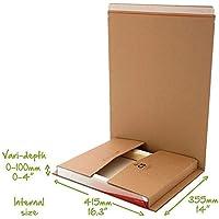 Buch CD DVD Kartusche Umwickeln C1 C2 C3 C4 C5 Post Schachteln Selbstklebender Streifen Einfach Reißstreifen Mail Bereit Karton Umwickeln - C5 (415x355mm)