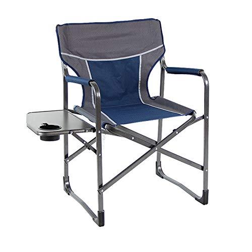 Chaise pliante multifonctionnelle en Aluminium de Directeur de Chaise de Directeur de Chaise de Pliage multifonctionnelle portative (Couleur : Bleu)