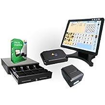 TPV táctil completo + cajón + impresora 80mm + software