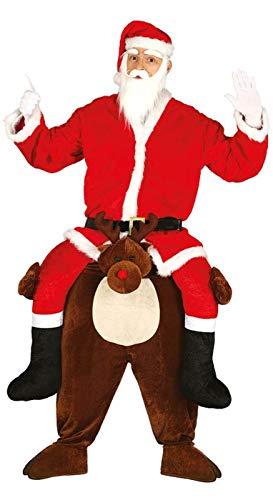 Enter-Deal-Berlin Huckepack Herren Kostüm Rudolf & Santa Größe 52-54 (L)