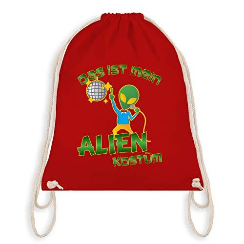 (Karneval & Fasching - Das ist mein Alien Kostüm Disco - Unisize - Rot - WM110 - Turnbeutel & Gym Bag)