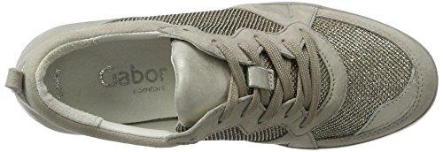 Gabor Shoes Comfort, Scarpe da Ginnastica Alte Donna Grigio (argento/muschel 14)