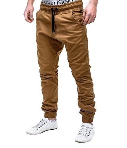 Betterstylz MasonBZ Chino Jogger Pantaloni Uomo Style Jogger Pant diff. colori (S-XXL) (M, Cammello)