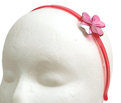 Caravan 0,5Oz Silber/Pink Zelluloid Acetat Dainty Blumen Haarband