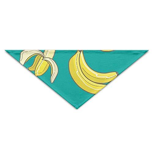 (deyhfef Banana Pattern Pet Dog Cat Puppy Bandana Triangle Head Scarfs Accessories)