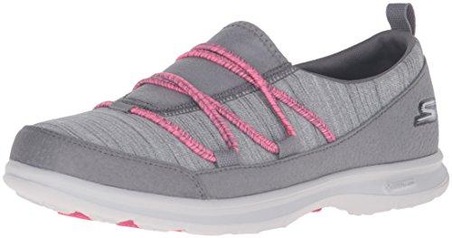 Passo Womens Scarpa Rosa Grigio Ondeggiamento Andare Skechers Camminare Prestazioni qrqntwROv