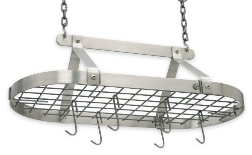 Enclume Oval Pot Rack (Enclume D‰[or Classic Oval Ceiling Pot Rack, Stainless Steel by Enclume)