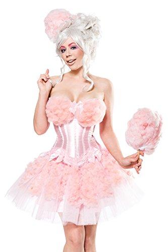 Karneval Kostüm Damen Candy Girl - Generique - Candy Zuckerwatten-Kostüm für Damen