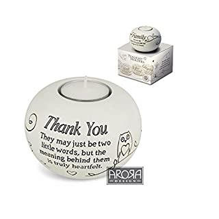 Thank You Gift - Sentimental Tealight Holder In Gift Box