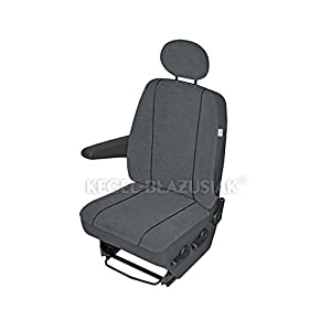 ZentimeX Z938620 Sitzbezüge Fahrersitz / Einzelsitz Armlehne rechts Stoff dunkel grau