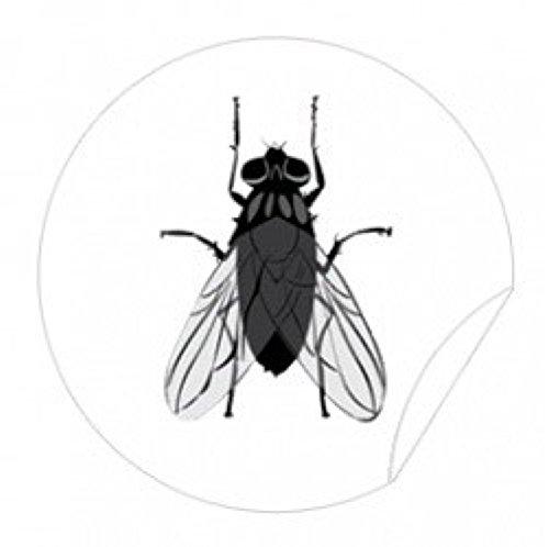 WC Aufkleber Fliege, Toilettensticker Pissior Tattoo Badausstattung 4er Set- LK-Trend & Style