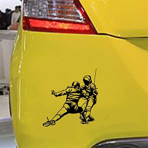 Aufkleber Sticker Auto 14,2x15 cm Sport Fechten Kampf Auto Aufkleber Silhouetteaccessories für Auto Laptop Fenster Aufkleber