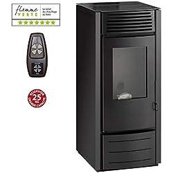 INTERSTOVES - Poêle à granules MARINA 10KW - Noir option télécommande