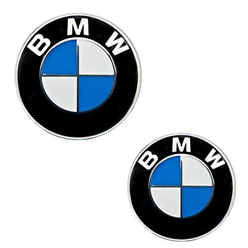 Hirido BMW Emblem per Cofano e Bagagliaio 82 mm 74 mm Hood Logo Anteriore Posteriore Berretto Boot per la Serie BMW