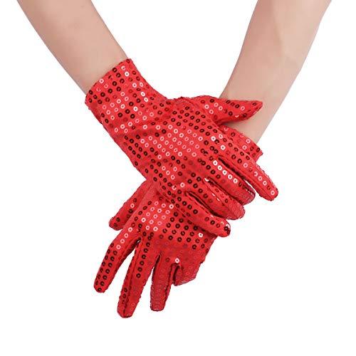 Agoky 1 Paar Unisex Handschuhe Funkelnde Pailletten Tanz -