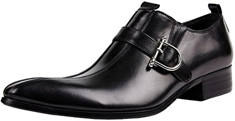 Jsix Zapatos de Vestir para Hombre de Piel