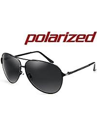 JULI Aviador Gafas de sol Polarizadas Hombre Mujer Estilo Retro Inspirado Círculo Metálico