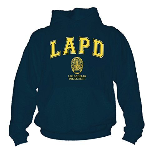 shirtmachine LAPD Hoodie, Navy, XXL (Pullover Nypd)