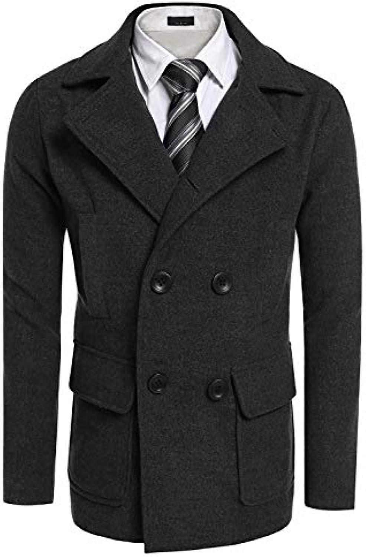 ... Alessioy Trench Uomo A Giacchetto Giacchetto A Giubbotto Elegante  Giacca Giacche Coat Slim Vintage Vento Fit f823e3daadc