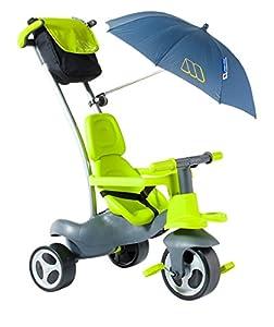 MOLTO- Urban Trike Easy Control Verde con Ruedas de Goma, Bolsa y sombrilla, Color (17202)