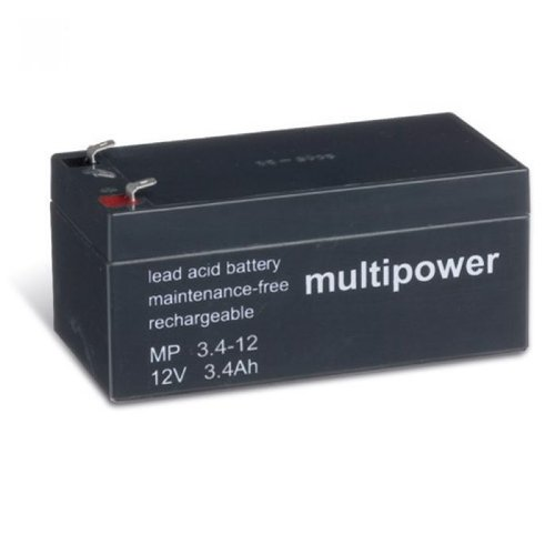 Preisvergleich Produktbild MULTIPOWER MP 12V 3, 4Ah Blei-Vlies-Akku (Glasfaservlies) AGM [Elektronik]
