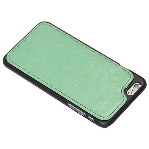 Phone case & Hülle Für IPhone 6 / 6S, 2 In 1 abtrennbarer rückseitiger Abdeckungs-Einbauschlitz-Art PU-lederner Fall ( Color : Red ) Green