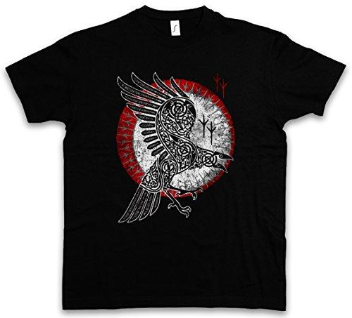 Urban Backwoods Norse Raven T-Shirt - Taglie S - 5XL Nero