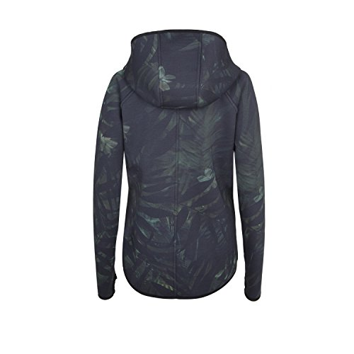 yuj Palmöl Damen Jacke, Schwarz/Palme, fr: noir/palmier