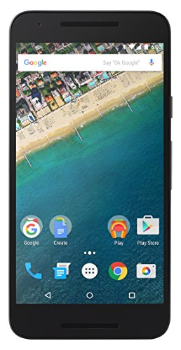 LG Nexus 5X Smartphone, Display Touch da 5,2' Full HD, 4G/LTE, 12.3 MP + 5 MP, 2 GB RAM, 32 GB Memoria Interna, Android 6.0, Carbon