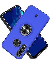 Funda para Huawei P Smart Plus 2019 /P Smart+ 2019/Enjoy 9S Soft TPU + Duro PC Doble Parachoques,Giroscopio Rotatorio,Botón de Descompresión, con Soporte de Anillo Funda Protectora Serie -Azul Marino