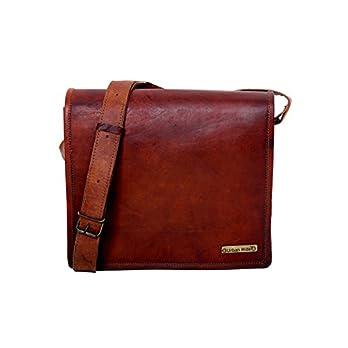 Mens echte 9″x 11″ Handmade Original Leder Messenger Schultertasche