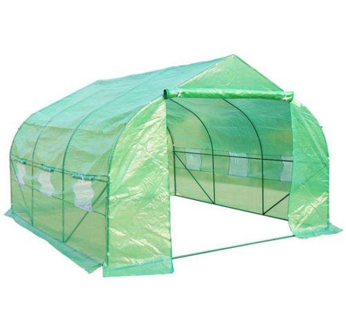 Homcom - Invernadero caseta 350 x 300 x 200 jardin terraza cultivo de plantas semilla