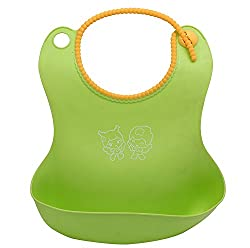 A&T Multicolour Baby Bib With Crumb Catcher