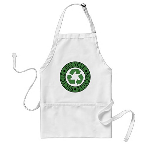Recycle Green logo BK lettere adulti grembiule