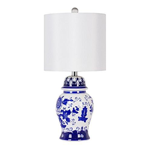 Tischleuchte Tischlampe Keramik Dekorative Lichter Schlafzimmer Nachttischlampe Kreative Luxus Wohnzimmer Lichter E27 Lichtschalter (blau Und Weiß Porzellan) (Abbildung Home-keramik-dekorative)