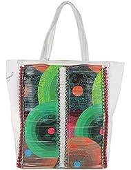 DESIGUAL 40X5187 Bols Shopping Chain Me Damen Handtasche, Schultertasche, 2 Farben: negro schwarz oder blanco weiss