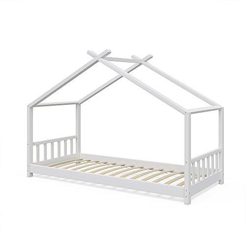 Vicco Kinderbett Hausbett Design 90x2000cm Kinder Bett Holz Haus Schlafen Hausbett Spielbett Inkl. Lattenrost
