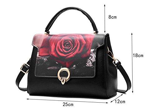Damen-Handtaschen-Kurier-Beutel-Art- Und Weiseelegante Druck-Handtaschen-magnetische Wölbungs-Schulter-Beutel-Handtasche E