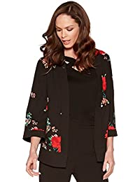 M&Co Ladies Open Edge To Edge Wide Half Sleeve Floral Print Cover Up Kimono Jacket